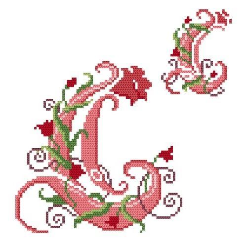 Wzór graficzny online - Monogram C - B. Sikora-Małyjurek