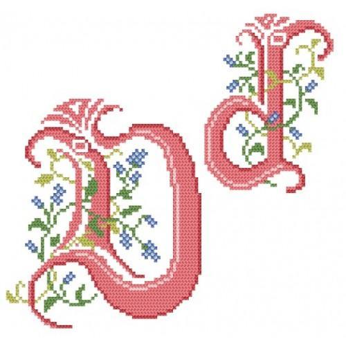 Wzór graficzny online - Monogram D - B. Sikora-Małyjurek