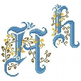 Wzór graficzny online - Monogram H - B. Sikora-Małyjurek