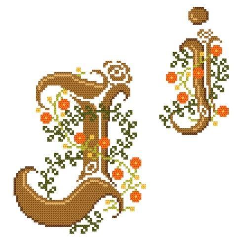 Wzór graficzny online - Monogram J - B. Sikora-Małyjurek