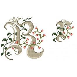 W 4477-18 Wzór graficzny online - Monogram R - B. Sikora-Małyjurek
