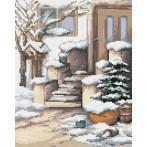 Wzór graficzny online - Zimowy ganek - B. Sikora