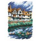 Wzór graficzny online - Domki nad rzeką