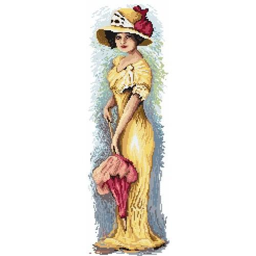 Wzór graficzny online - Kobieta z parasolką