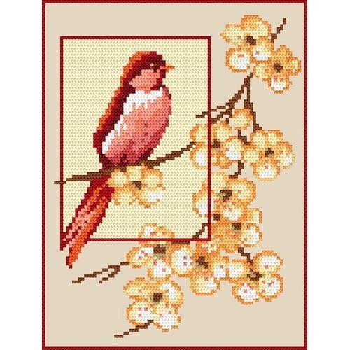 W 4569 Wzór graficzny online - Karmazynowa piękność - B. Sikora