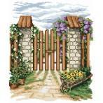W 4580 Wzór graficzny online - Kwiatowa furtka - B. Sikora