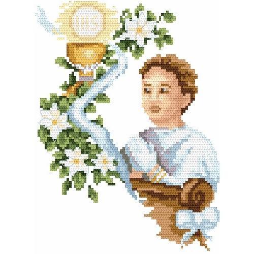 Wzór graficzny online - Komunia chłopca - B. Sikora