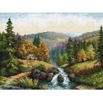 Wzór graficzny online - Dolina z potokiem - S. Sikora