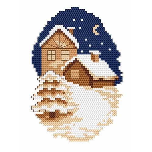 Wzór graficzny online - Zimowe miasteczko - B. Sikora