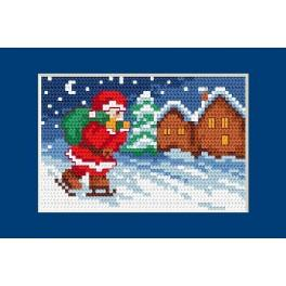 Wzór graficzny online - Kartka świąteczna - Mikołaj