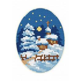 Wzór graficzny online - Kartka świąteczna - Kościółek