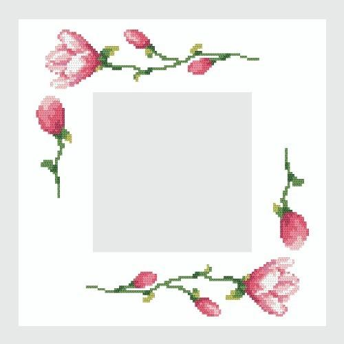 Wzór graficzny online - Serwetka z magnoliami