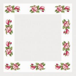 Wzór graficzny online - Obrus z magnoliami