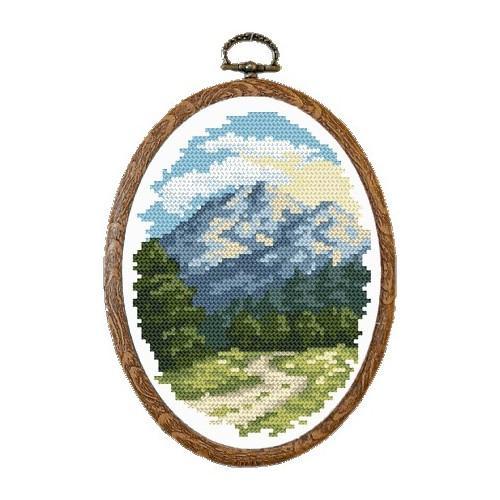 Wzór graficzny online - Słoneczne góry