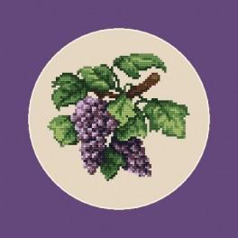 Wzór graficzny online - Ciemne winogrona - B. Sikora-Małyjurek