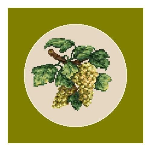 Wzór graficzny online - Jasne winogrona - B. Sikora-Małyjurek