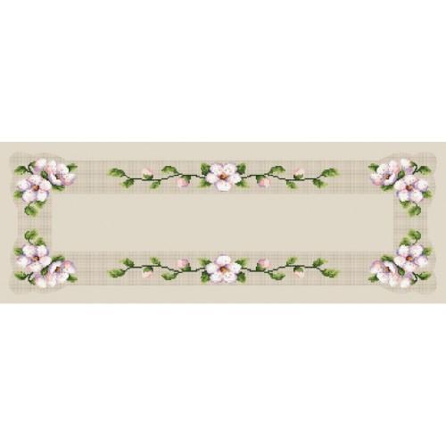 Wzór graficzny online - Bieżnik z kwitnącą wiśnią - B. Sikora