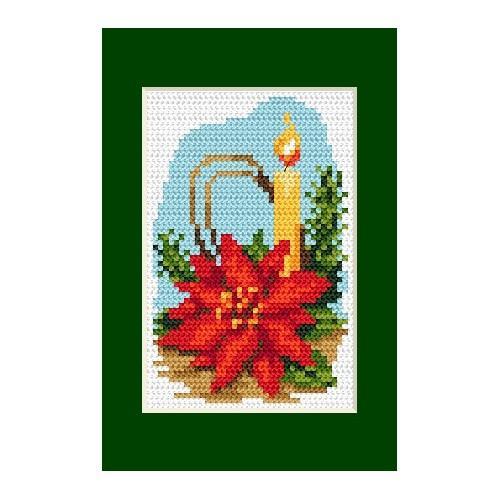 Wzór graficzny online - Kartka świąteczna- Stroik świąteczny