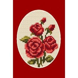 W 4804-02 Wzór graficzny online - Kartka okolicznościowa- Róże