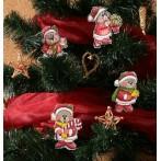 Wzór graficzny online - Ozdoby choinkowe- Świąteczne misie