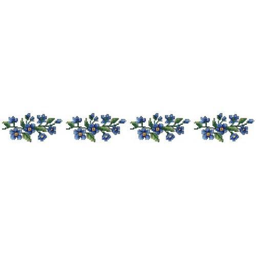 Wzór graficzny online - Ręcznik z niebieskimi kwiatami