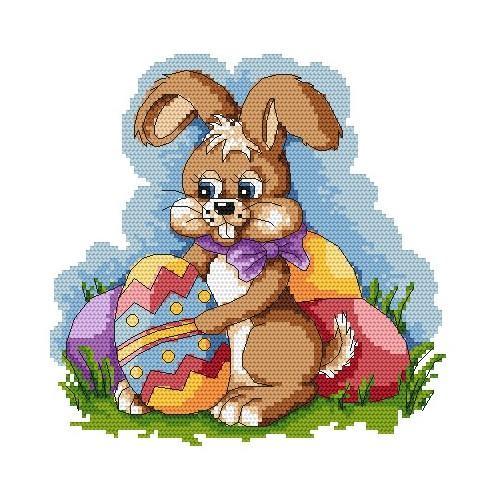Wzór graficzny online - Wielkanocny zając