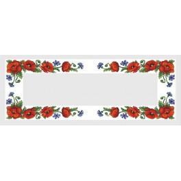 Wzór graficzny online - Bieżnik z polnymi kwiatami