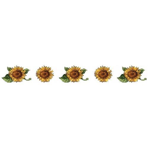 Wzór graficzny online - Ręcznik ze słonecznikami