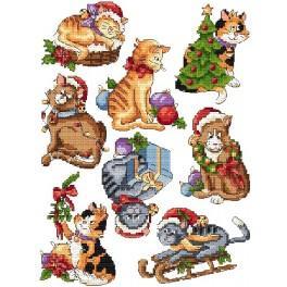 Wzór graficzny online - Świąteczne kociaki