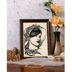 Wzór graficzny online - Kobieta z perłami
