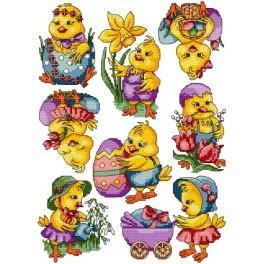 W 4870 Wzór graficzny online - Wielkanocne kurczaczki