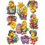 Wzór graficzny online - Wielkanocne kurczaczki
