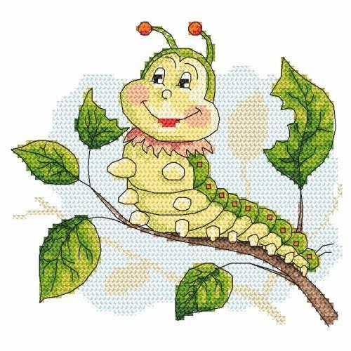 Wzór graficzny online - Wesoła gąsieniczka