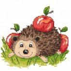 Wzór graficzny online - Jeżyk z jabłkami