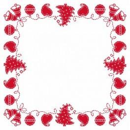 Wzór graficzny online - Serwetka – Świąteczna fastryga