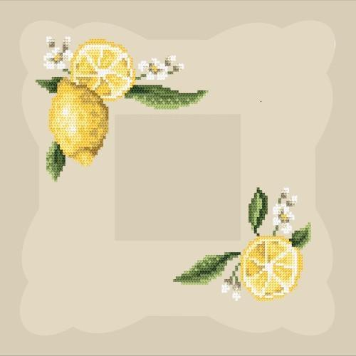 Wzór graficzny online - Serwetka z cytryną