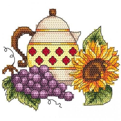 Wzór graficzny online - Dzbanek z winogronem