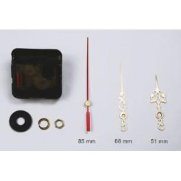 Mechanizm zegarowy - duże złote ozdobne wskazówki