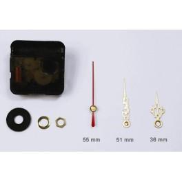 Mechanizm zegarowy - małe złote ozdobne wskazówki