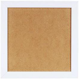 Ramka drewniana - kolor biały (21x21cm)