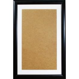 Ramka drewniana - kolor czarny - białe psp (32,6x52,1cm)