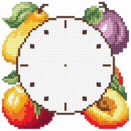 Wzór graficzny online - Zegar z owocami