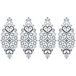W 8832 Wzór graficzny online - Pisanka - szara arabeska