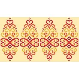 W 8834 Wzór graficzny ONLINE pdf - Pisanka - czerwona arabeska