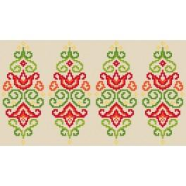 W 8835 Wzór graficzny ONLINE pdf - Pisanka - kolorowa arabeska