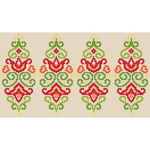 Wzór graficzny online - Pisanka - kolorowa arabeska