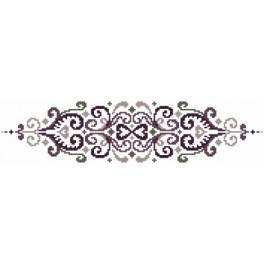 Wzór graficzny online - Poduszka - Kwiaty z arabeską