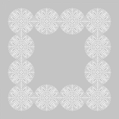 Wzór graficzny online - Śnieżynkowa serwetka