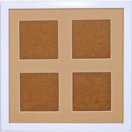 Ramka drewniana - kolor biały - piaskowe psp (23,2x23,2cm)
