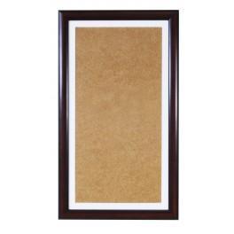 Ramka drewniana - kolor orzech - białe psp (22,4x40,8cm)